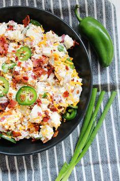 easy jalapeño popper potato salad recipe