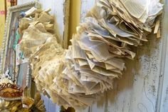 Large paper holiday garland made from the by AnitaSperoDesign, $82.00