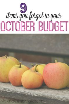 While I was making our October budget, I found some categories you may have forgotten about in making yours. I only say this because I've been known to forget these categories too. Ways To Save Money, Money Tips, Money Saving Tips, How To Make Money, Living On A Budget, Family Budget, Frugal Living Tips, Finance Organization, Managing Your Money