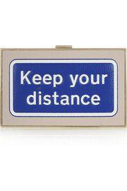 Pochette en cuir texturé Imperial Keep Your Distance