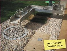 Special Education Needs Sensory Garden Design & Build | Timotay Playground Design and Equipment (great pic of a water play area)