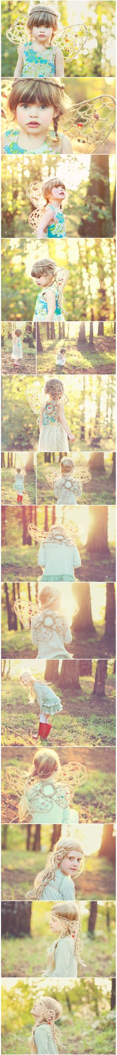 One day, I will dress my daughter up as a fairy and make her do things like this. :)