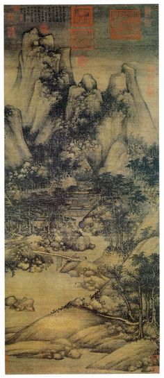 五代 南唐 - 巨然 -《蕭翼賺蘭亭圖》Juran (Chinese: 巨然) (fl. 10th century) was a Chinese landscape painter of the late Five Dynasties and Ten Kingdoms and early Northern Song periods.