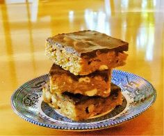One Perfect Bite: Goody Goody Bars - A Simple No-Bake Confection- cornflakes, peanuts, and chocolate Roll Cookies, Cookie Bars, Bar Cookies, Yummy Treats, Sweet Treats, Americas Test Kitchen, Brownie Bar, Diy Food, Sweet Tooth
