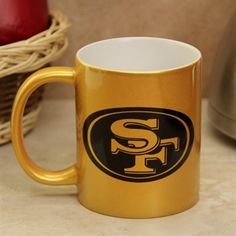 San Francisco 49ers 16oz. Polka Dot Ceramic Latte Mug