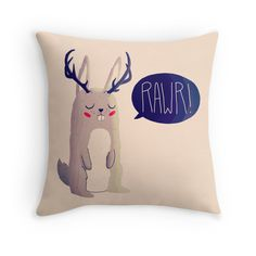 """""""Fearsome Critter"""" Throw Pillows by nanlawson   Redbubble"""