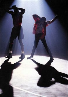Michael attempting to teach Michael Jordan how to dance (from Jam). So funny!