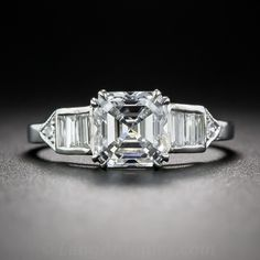 1.50 Carat Asscher-Cut Diamond Ring - GIA D/VS1