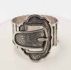 Victorian Sterling Silver Cuff Buckle Bracelet