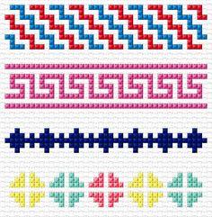 Cross Stitch | Simple Borders xstitch Chart | Design