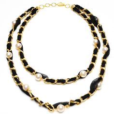 Chain and Pearl Necklace   Amrita Singh Jewelry