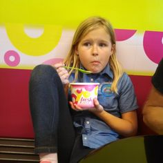 She is obviously being forced to have frozen yogurt