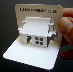 3D Business card white