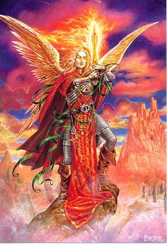 This beautiful print of the Archangel Michael - a stunning example of the artwork of Briar. Size: 12 x x Archangel Gabriel, Archangel Michael, San Uriel, Male Angels, Michael Art, Michael Angel, Michael Store, Angels Among Us, Guardian Angels