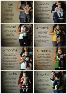 Monthly Baby photos! Super cute idea!! Had I been blessed with a baby, this is so TOTALLY something I would've done!!