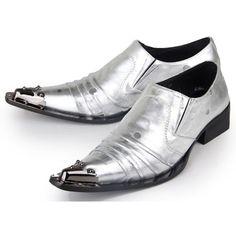 cc9304c00 Men Metallic Silver Polka Dot Pointy Modern Vintage Rockabilly Shoes  SKU-1100322 Sapatos Masculinos,. Sapatos MasculinosSapato Social ...