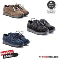 Bu ayakkabı ile adımlar çok rahatken, taş detaylarıyla çok havalı. Modern tasarımı ile çok seveceğin bu modeli denemelisin.  Ücretsiz kargo, kapıda ödeme ve taksit seçenekleriyle. Ürün kodu: 20300