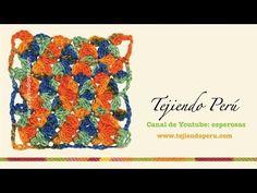Punto jazmín en tejido en crochet... mi versión - YouTube