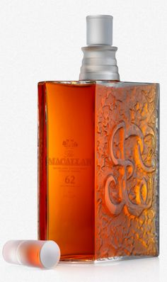 The Macallan 62 years old in a Lalique decanter...