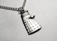 Evil Robot Necklace inspired by Doctor Who and the Daleks $16