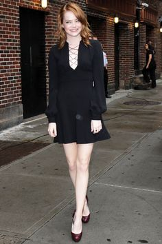 f1921f5e422b Emma Stone visits  Late Show With David Letterman  at the Ed Sullivan  Theater in New York City - August 2011