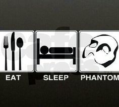 My daily schedule. Every day. With a little more Phantom. Actually, a LOT more Phantom.