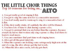 Reasons for being an alto