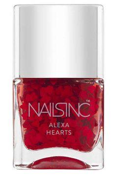 Nails Inc. Nail Polish in Alexa Hearts, $45 in the Alexa Edit Gift Set, available mid-November at nailsinc.com.