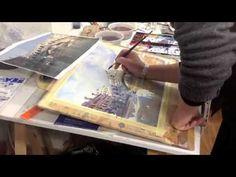 The Rialto Bridge, Venice. Step by Step watercolour. - YouTube