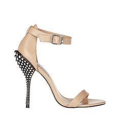 REACTOR BLACK LEATHER women's dress high ankle strap - Steve Madden