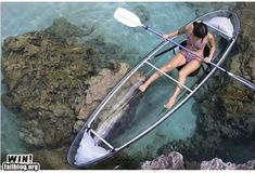 Clear Kayak...Wouldn't it be like a dream to see the fish swimming under you?