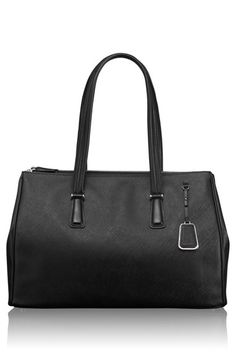 $495 - Tumi 'Sinclair  - Large Ana' Double Zip Coated Canvas Tote available at #Nordstrom, color: black