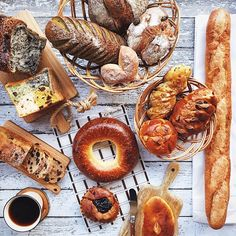 """where to begin??? a spectacularly splendid bread spread at home this weekend, all from a gem of a bakery called Ca Marche in Kobe, arriving together with…"""