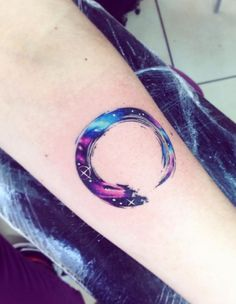 Watercolor Galaxy Tattoo