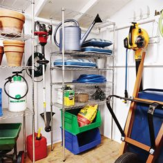 Keep your outdoor tools organized with these simple storage solutions.