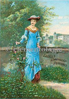 Vintage Perfume Label Image No. 04792 , Printable Digital Image File - elementologie, Vintage Market And Design