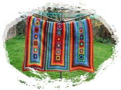 A new way of designing an afghan using granny squares. Love it!
