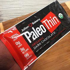 Amazon.com: Paleo Thin® Keto Dark Chocolate Bars (USDA Organic) (99 Calories : 3 Net Carbs : Gluten-Free : Soy-Free) (12 Bars): Gateway Julian Bakery, Bad Room Ideas, Paleo, Keto, Dark Chocolate Bar, Gourmet Recipes, Gluten Free, Organic, Amazon