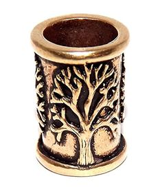 Celtic Tree of Life bronze bead bead, for beards or dreadlock hair. Beard Decorations, Beard Accessories, Beard Beads, Beard Gifts, Dreadlock Beads, Loc Jewelry, Celtic Tree Of Life, Dreadlock Hairstyles