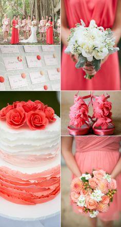 Inspirational Wedding Ideas #155:  Wild Watermelon, Pink & Melon