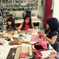 Oficina de colagem para crianças, Atelier Malu Serra, São Paulo, SP