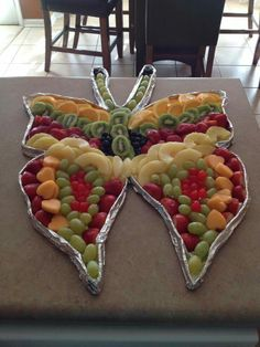 My attempt at the Butterfly Fruit Platter!
