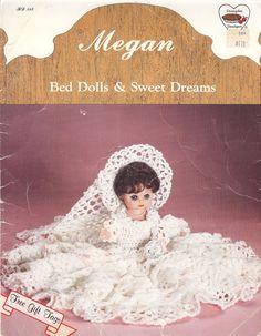 Vintage Megan a Dumplin Designs Bed Doll and Sweet by NookCove, $5.99