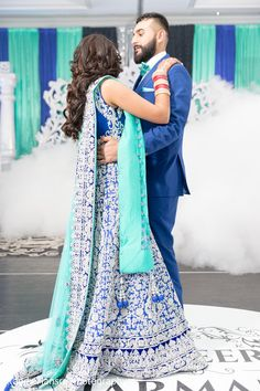 Sikh bride and groom having their first dance. http://www.maharaniweddings.com/gallery/photo/92210