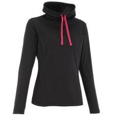 Camiseta manga larga Forclaz 100 warm mujer negro