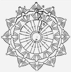 Круглые мотивы для вязания крючком
