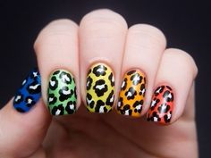 Rainbow nails lol cool