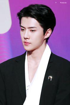 Sehun - 171201 2017 Mnet Asian Music Awards in Hong Kong, red carpet Credit: Windyside.