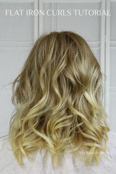 Beauty Basics: Curling Short to Medium Length Hair with a Flat Iron