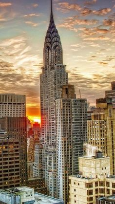 The sun sets on another perfect night in New York City.